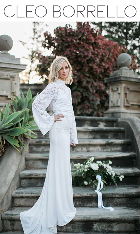 Cleo Borello relaxed modern bridal apparel Margaret River region