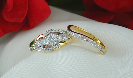 Ciprian Showcase Jewellers engagement and wedding ring set